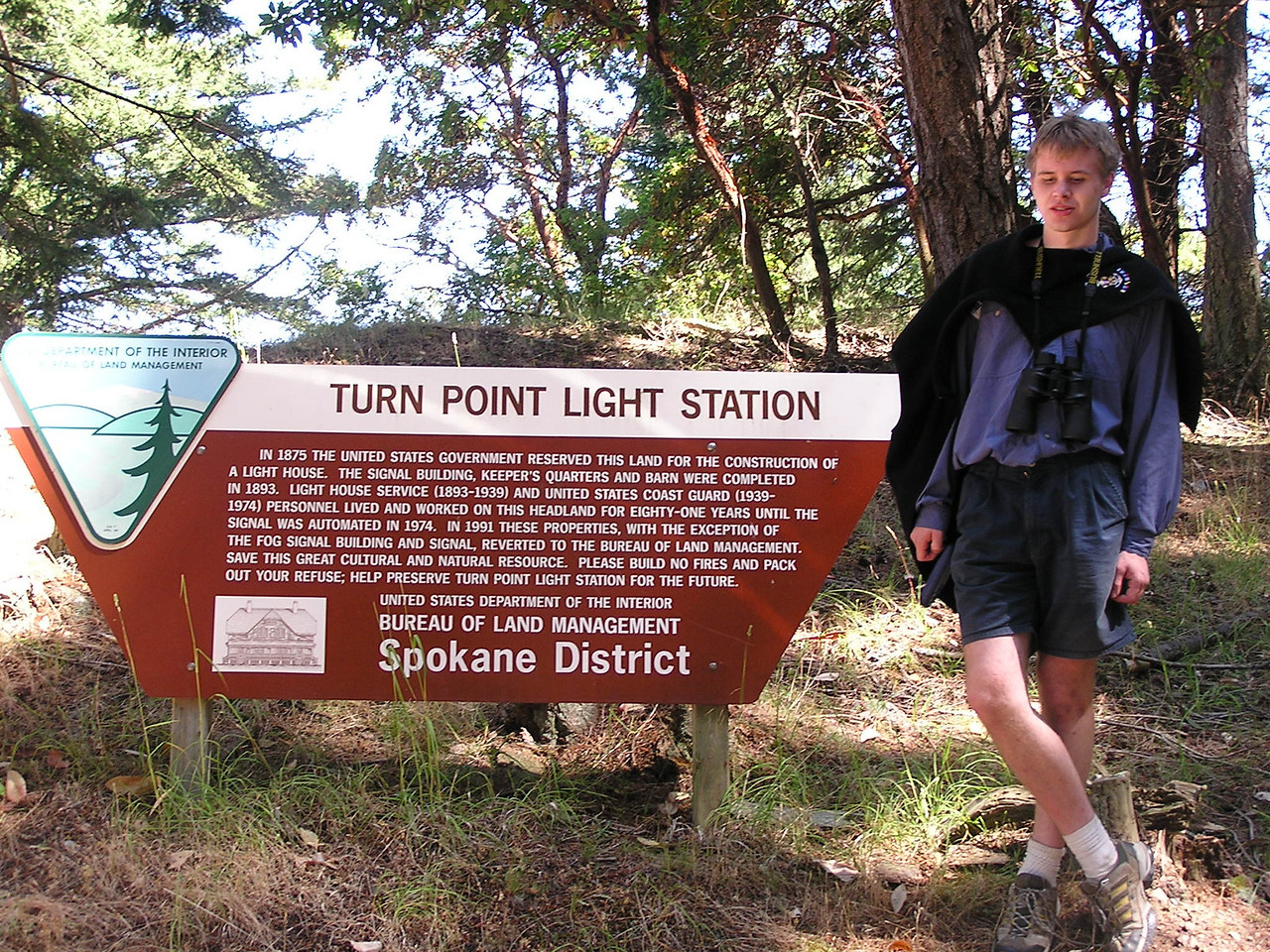 Turn Point Light Station on the northwest side of Stuart Island
