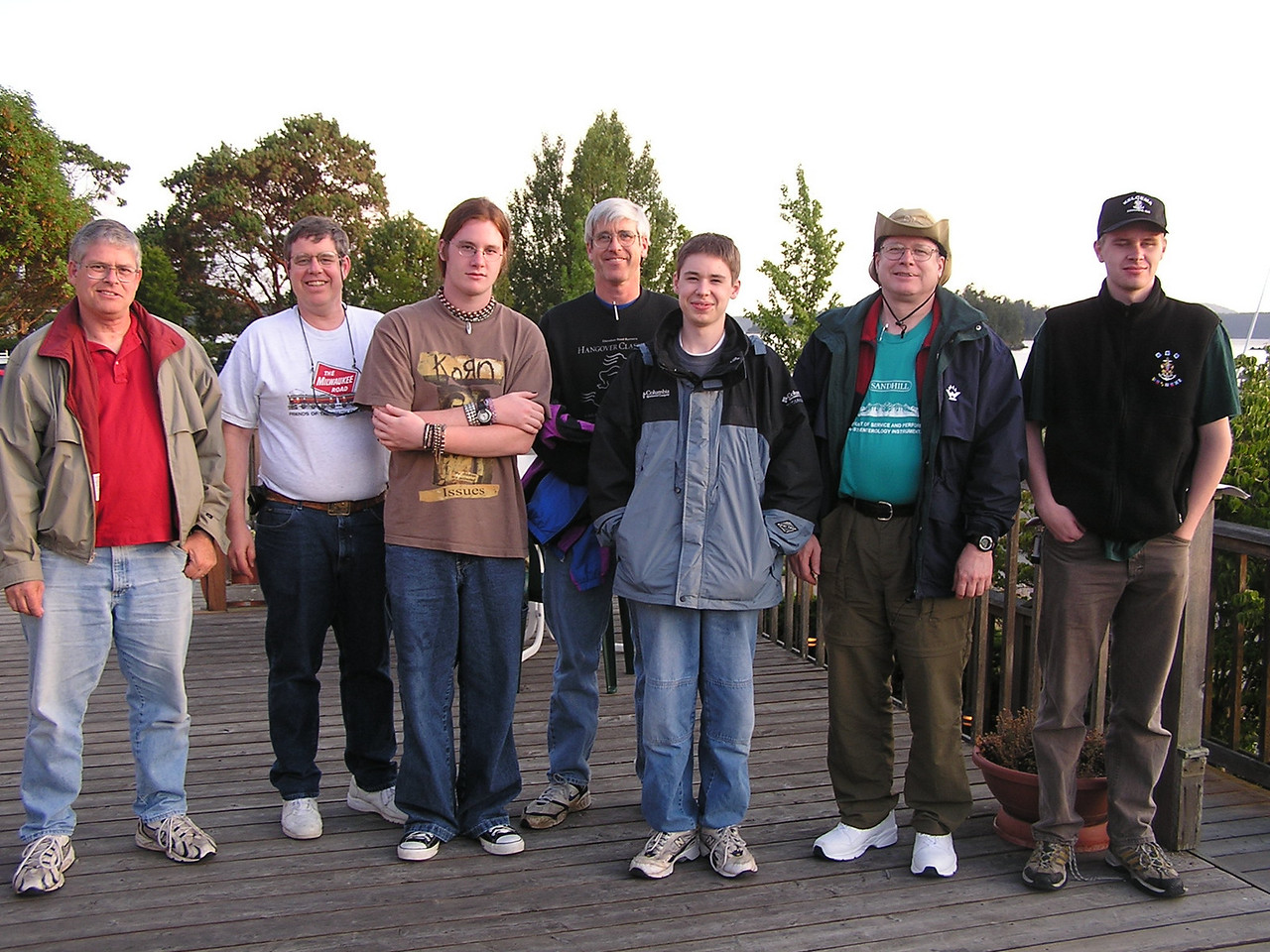 Day 1:  Our crew at Deer Harbor.  We sailed from Anacortes to Deer Harbor.
