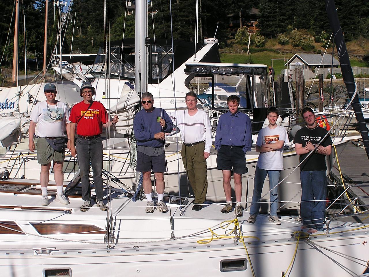 Our crew:  Martin, Glenn, Wendell, Richard, Nathan, Kevin and Stuart