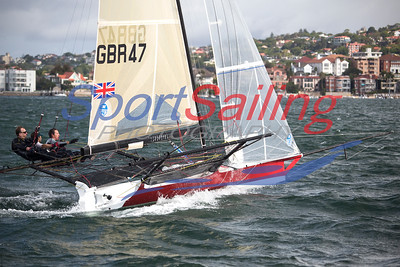 Black Dog, GBR47 18ft Skiff Racing, JJ Giltinan 2013