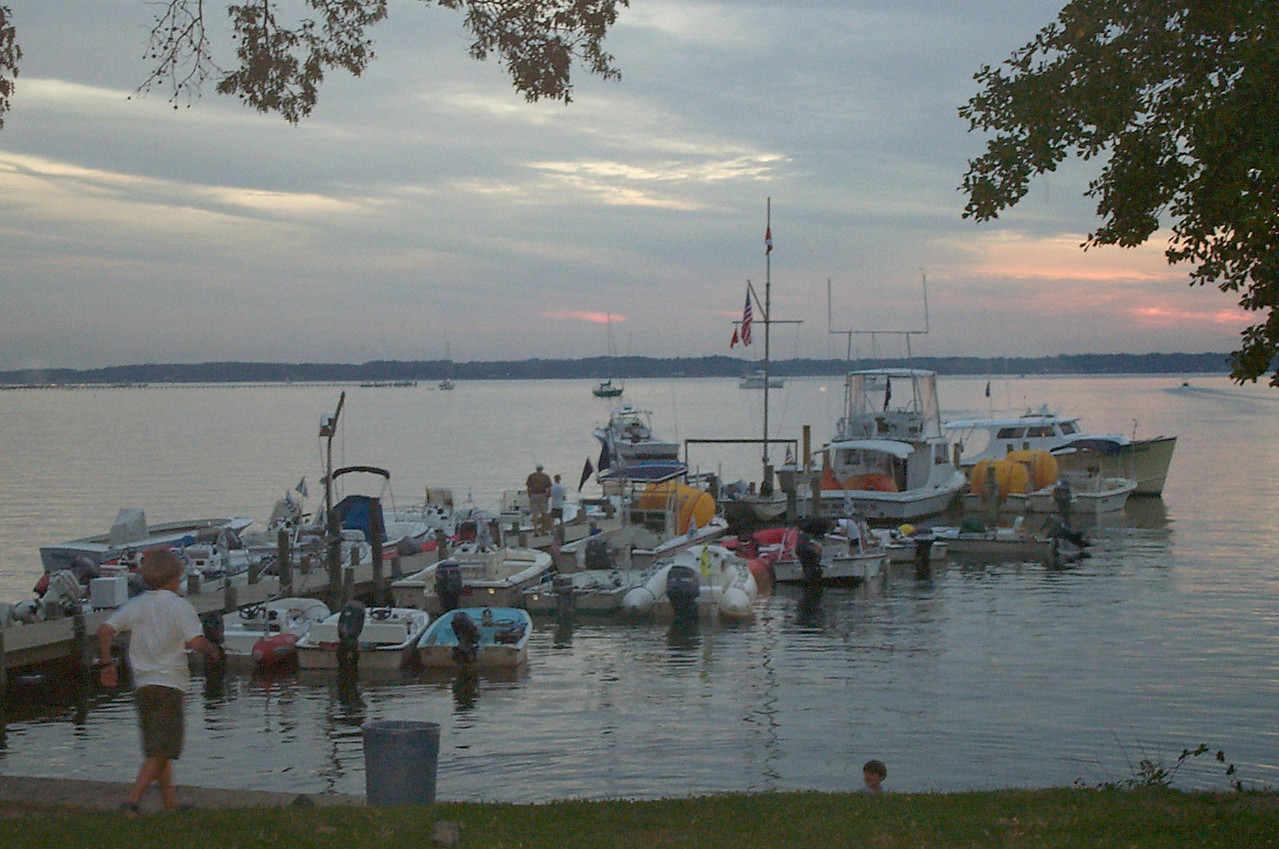 FBYC dock as the sun sets.