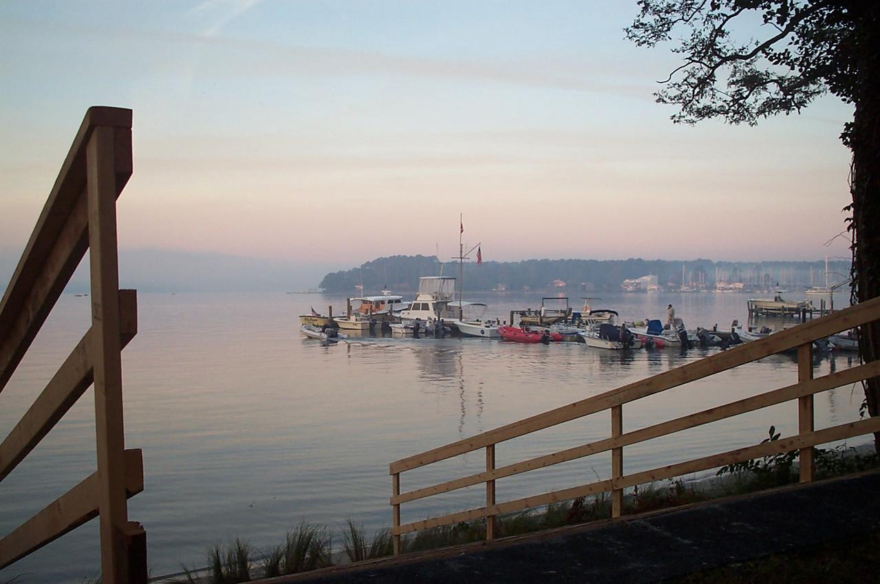 Morning at Fishing Bay Dock