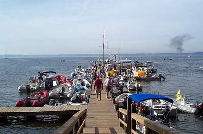 Fishing Bay dock before racing.