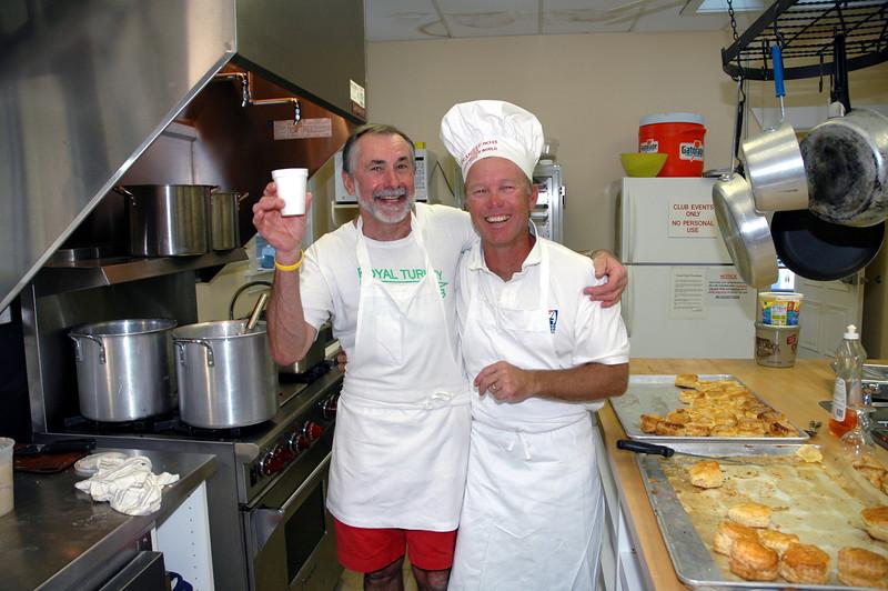 Chef Alain and Steve Swenson.
