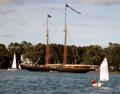 Schooner Virginia anchored in front of FBYC.
