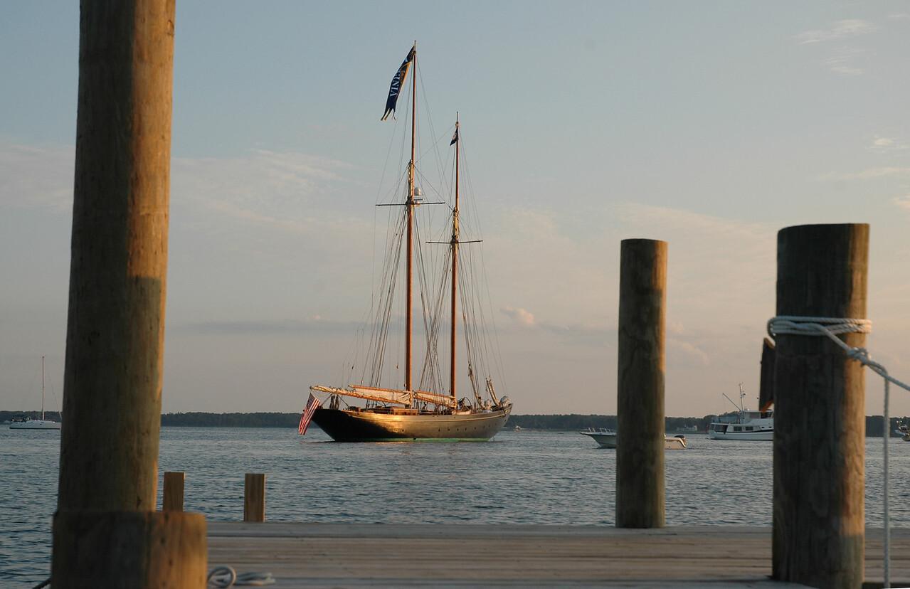 Schooner Virginia off the FBYC dock.