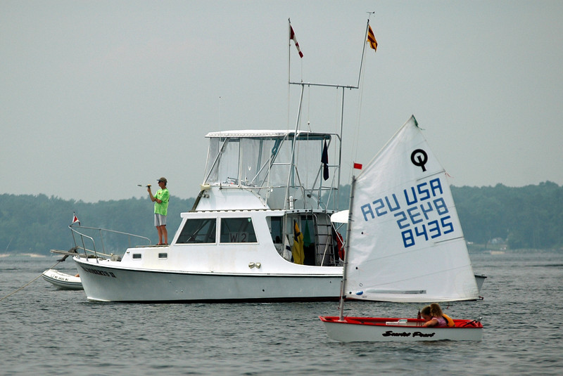 Eric Powers on the bow of Mr. Roberts