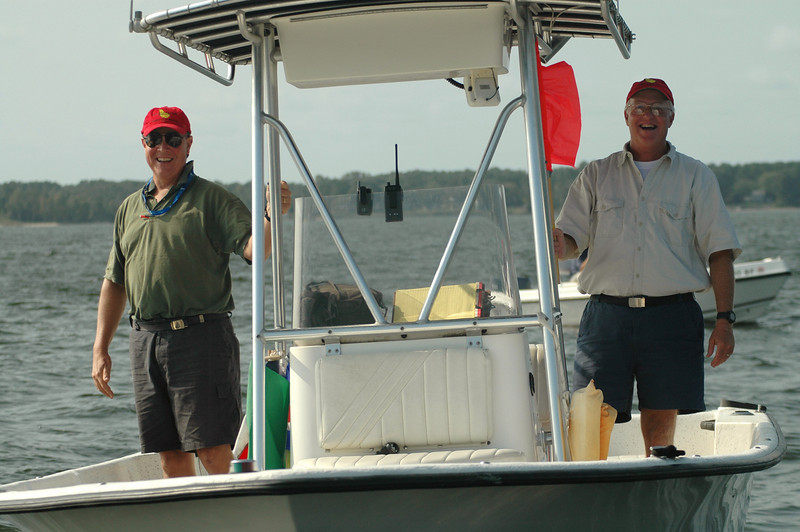 Finish Boat Rick Klein, Mike Dale