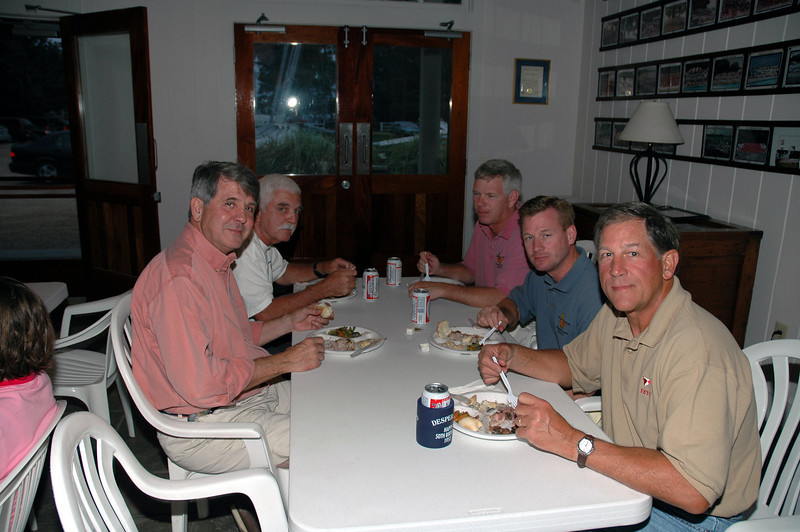 dinner, Noel Clinard, Tom O'Connell, Mike Karn, Jay Buhl, Ric Bauer