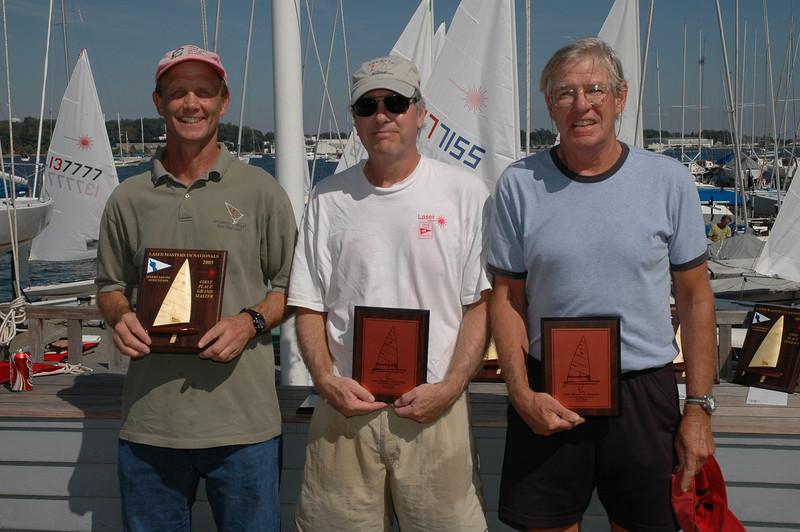 173196 Chris Legg SSA (1st Grand Master), 181188 Jim Irwin RYC (2nd Grand Master), 181244 Lindsay Hewitt CSH (3rd Grand Master)