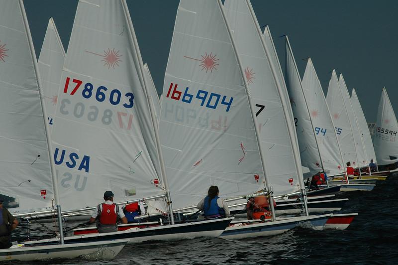 Start of Race 3: 178603 Alain Vincey FBYC, 166904 Karen Long SSA