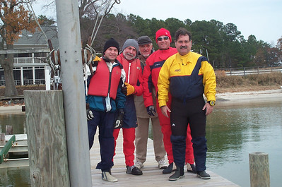 Jon, Alain, David, Rob and Frank ready to hit the water.