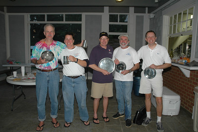 Winners - Mike Waters (1st Master, 2nd Overall), JR Futcher (First Woman), Henry Amthor (1st Overall), Alain Vincey (1st Chef) and Ted Morgan (3rd Overall)