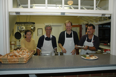 Chefs for dinner - Betsy Murphy, Ron Jenkins, John Hubbard and Frank Murphy.