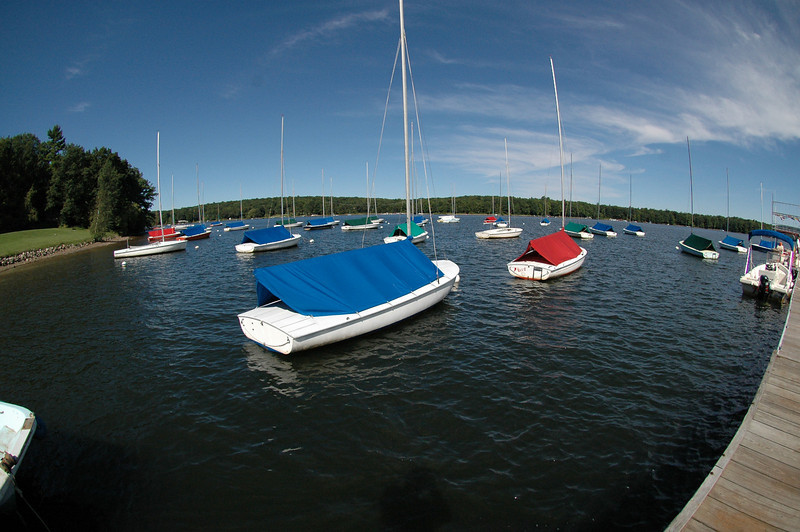 Flying Scots moored in front of Deep Creek Yacht Club