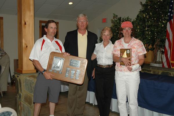 Best Woman Skipper Trophy awarded to highest placing woman skipper 80/5601 Melanie Dunham/Bill Dunham