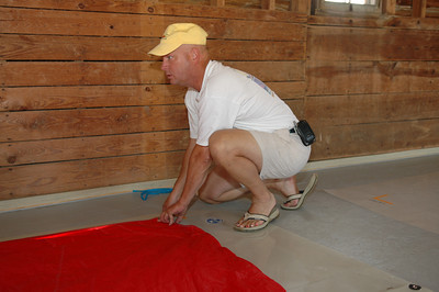 Mike Schmidt measuring sails