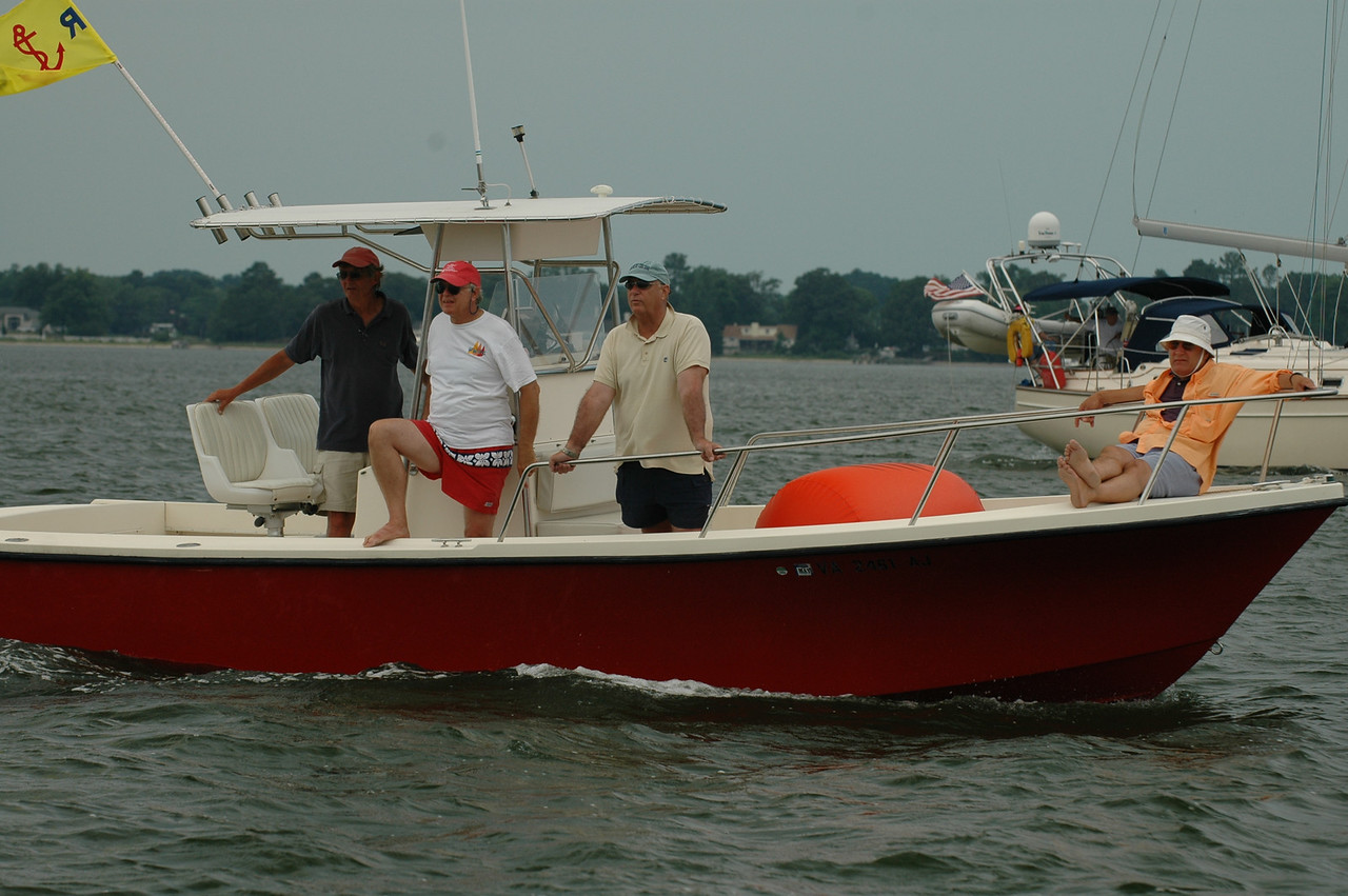 Safety boat with Jere Dennison
