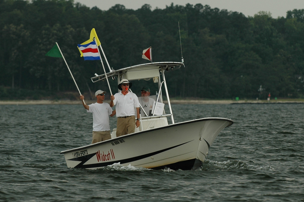 Gate boat with Dale and Tom Roberts