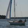 The kind of boat my dad has, and that I was sailing up until I got the Blue Ribbon.