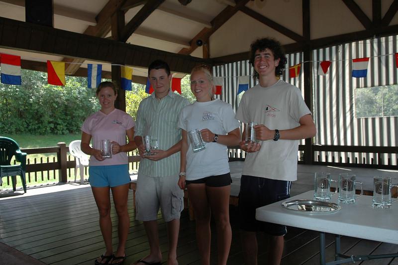 Radial Winners (L-R): Danielle Prior (1st), Sam Dobbs (2nd), Carrie Dodd (3rd), Josh Bullock (4th)