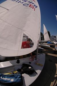 John rigging his boat.