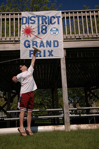 Playing Frisbee at the District 18 Grand Prix.
