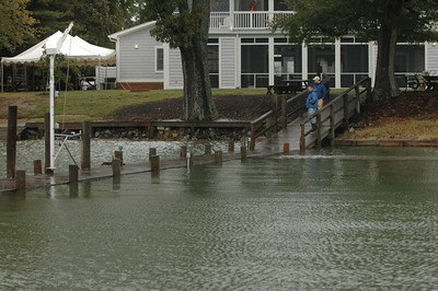 FBYC dock shortly after high tide.