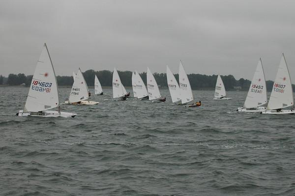 Fleet going upwind in race #2. 184603 Brad Squires
