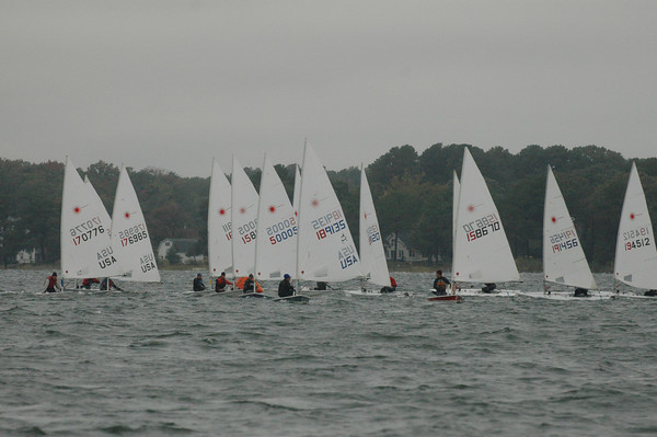 fleet sailing downwind in race 2.