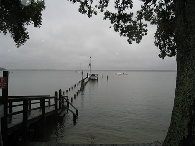 Fishing Bay dock at high tide