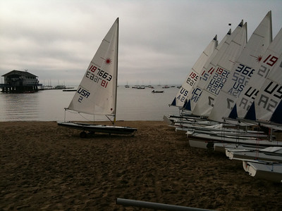 Rigging boats in the morning before heading out for the 0930 warning on Friday
