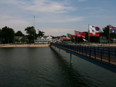 View of the dock and the Buffalo Canoe Club