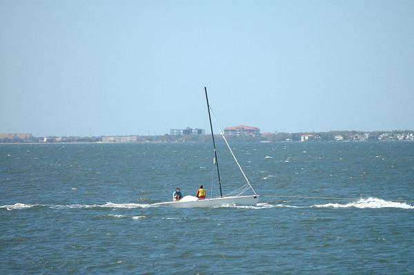 Matt L and Kevin being towed in.