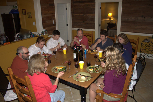 Fabulous dinner by Rick/Jen. Sue, Rick, Kevin, Matt L, Chris, Mark, Melissa, Matt B, Jen