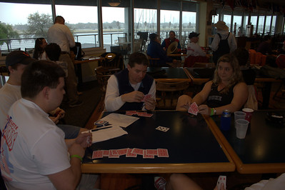 Card game #734543 while it rains at the club. Matt L, Matt B, Jen