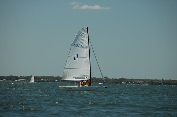 Chris and Justin sailing in.