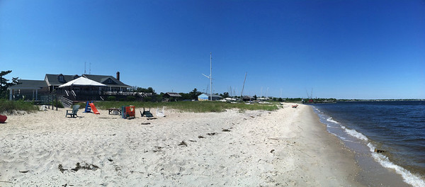 Beach at Sayville Yacht Club