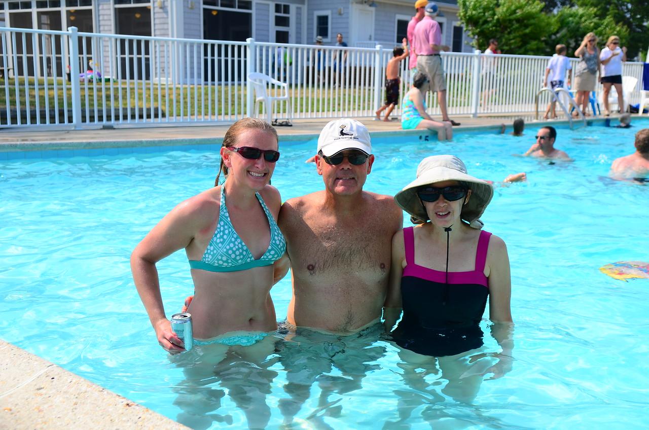 Enjoying the pool  Melissa Orndorf, Sam Mitchener, Cary Mitchener