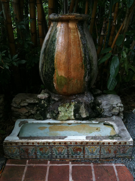 This garden decoration used to be a urinal at Sloppy Joe's and is now at Earnest Hemingway's Home.