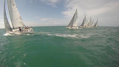 J105s sailing upwind