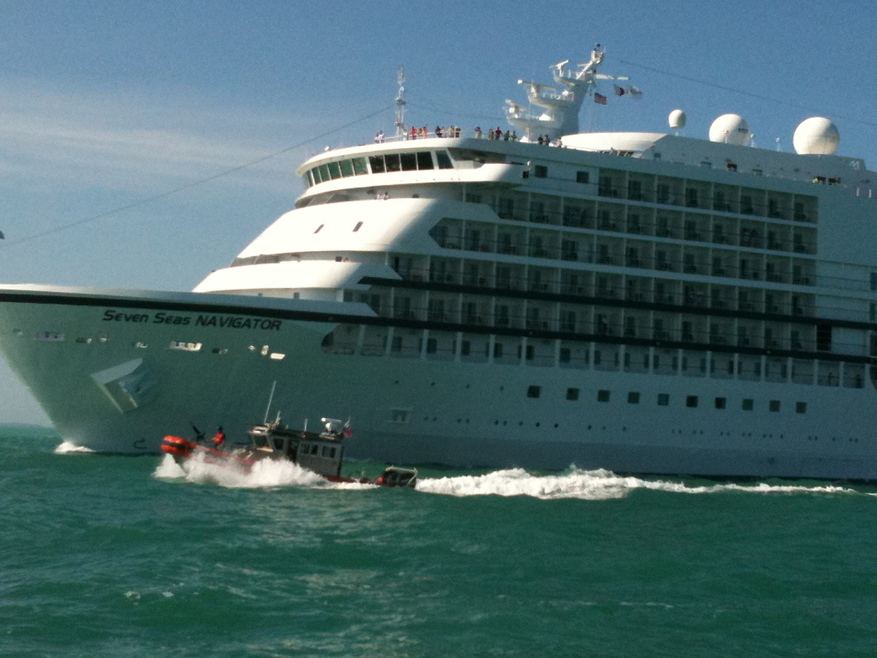 Note the armed escort for the cruise ship coming out of Key West.