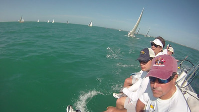 Lud, Jon and John on the rail during race 3.