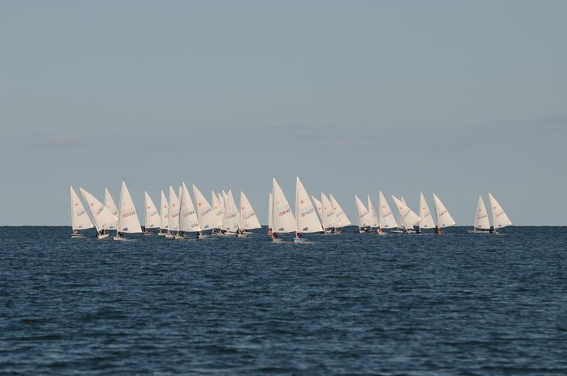 fleet coming downwind.