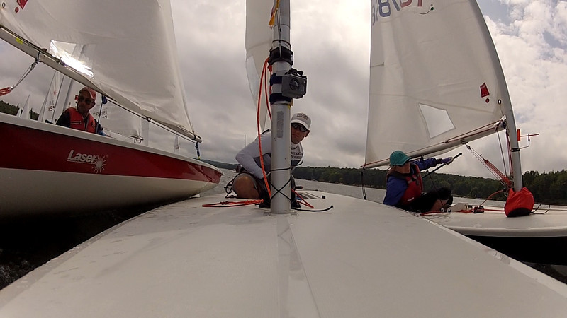tight quarters at the start.