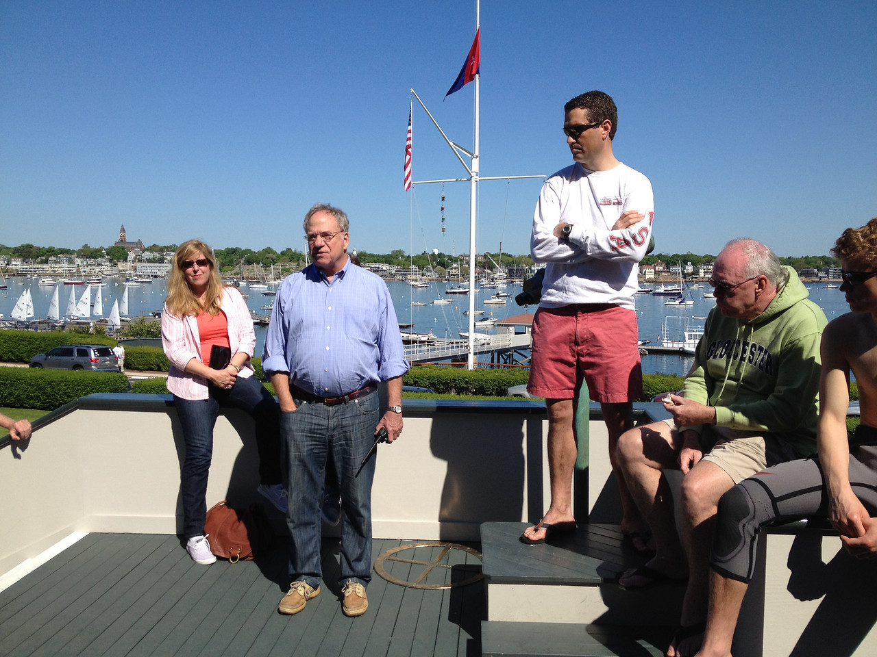 Skipper's meeting with Commodore and Event Chairman Ben Richardson