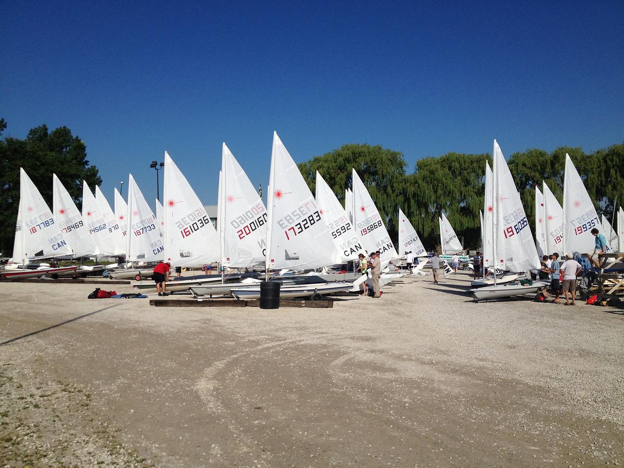 6/22 boats rigged at Etobicoke Yacht Club