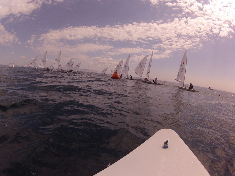 6/22 approaching the wing mark to go downwind race 1.