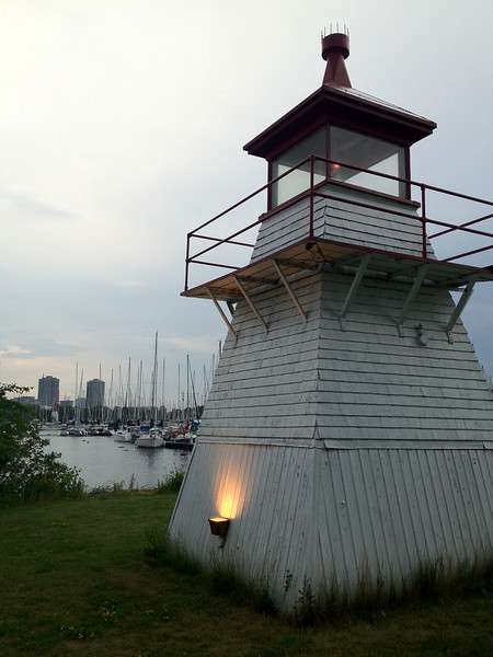 lighthouse at Etobicoke Yacht Club