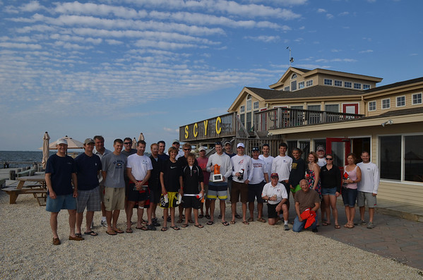 Orange Coffee Pot Regatta Group Photo
